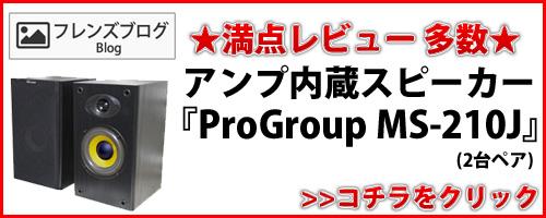 満点レビュー多数!アンプ内蔵スピーカー Progroup MS-210J