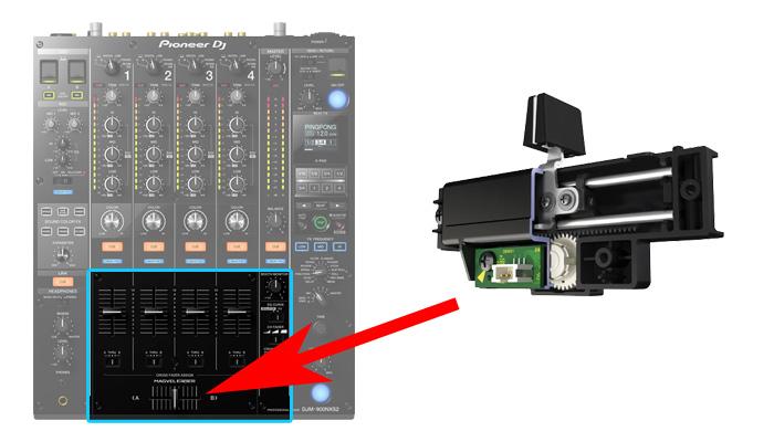 djm900nxs2 にはMAGVEL FADERが搭載。