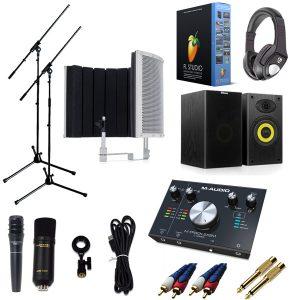 【 FL STUDIO 20 高品質弾き語り録音スピーカーセットA 】 Marantz(マランツ)  MPM-1000U / M-TRACK 2x2M / PRO63 / Sound Shield Live セット