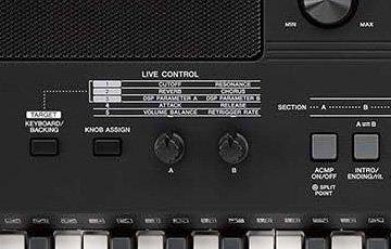 PSR-E463 ライブコントロールノブ