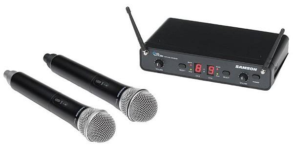 【ワイヤレスマイク2本シンプルセット】 DJ-Tech (ディージェーテック) / FPX-G12BTE - 充電式 簡易PAシステム -