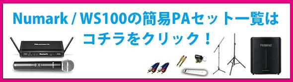WS100 セット ワイヤレスマイク PA 拡声器