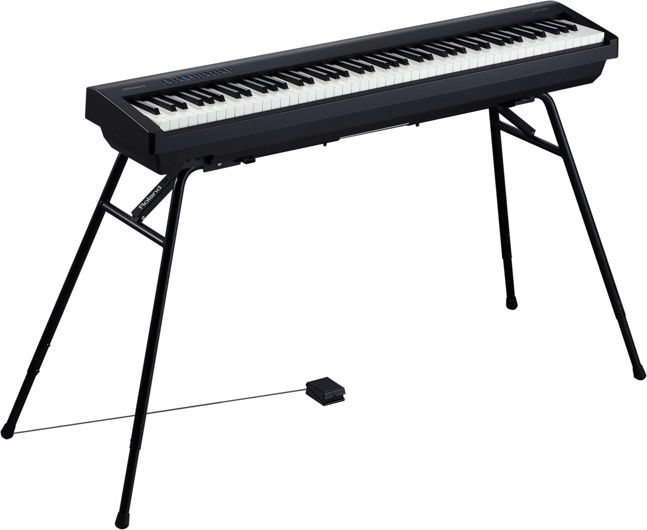 【バイヤーオススメセット】 Roland(ローランド) / FP-30-BK - Bluetooth対応 ポータブル・電子ピアノ - 【88鍵盤】