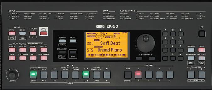 KORG EK-50 コントロール