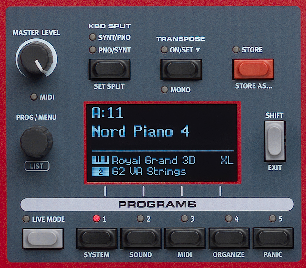 Nord Piano4 パネル