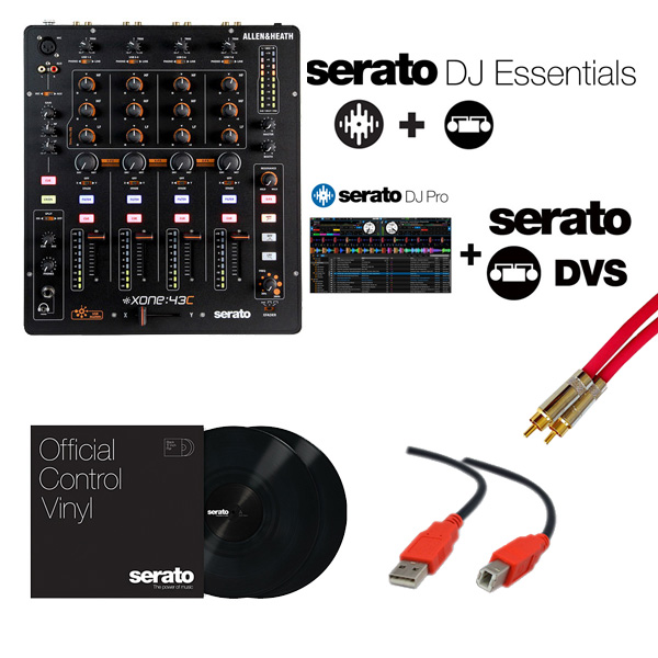 Allen&Heath(アレンアンドヒース) / Xone:43C / Serato DJ Essentials DVSセット
